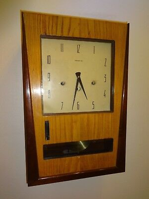 """ART DECO """"VEDETTE"""" Westminster Chimes, French Wall Clock  DAY/NIGHT modes"""