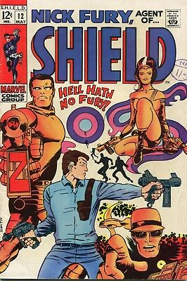 NICK FURY AGENT OF SHIELD # 12 - BARRY SMITH PLOT AND ART (pre CONAN # 1)