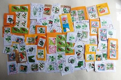 RH121017 - Taiwan - ROC stamps on paper - small collection - all shown