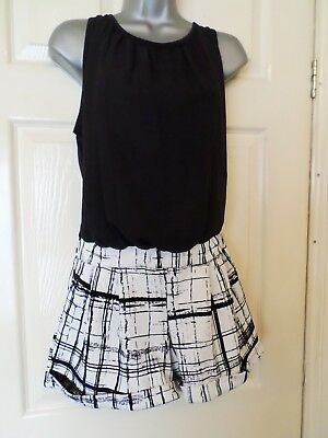 Cameo Rose@new Look.....size 14...fabulous Black & White Check Playsuit