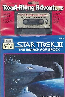 Star Trek TOS Book & Cassette Star Trek TOS III Search for Spock New