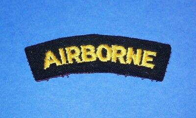 ORIGINAL WW2 BRITISH MADE FELT 17th / 101st AIRBORNE DIVISION PATCH TAB!