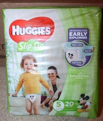 Huggies Little Movers Size 5, Slip-On Diapers, 4/20's = 80 Diapers