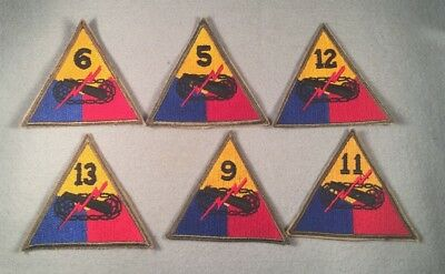 WW2 US Army Armored Division SSI Patch Lot x6 512O