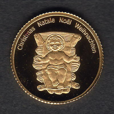 Congo. 2005 Gold 20 Francs.. Christmas  1.224gms  .9999 gold.. Proof