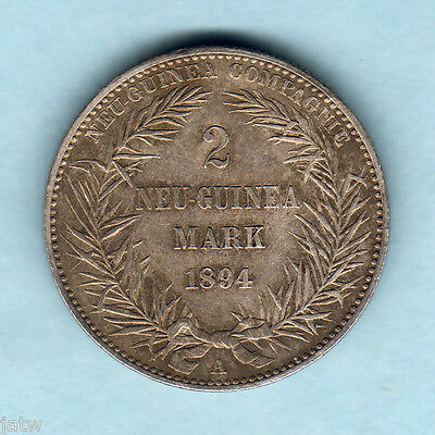 German New Guinea. 1894-A 2 Mark.. Much Lustre..  EF