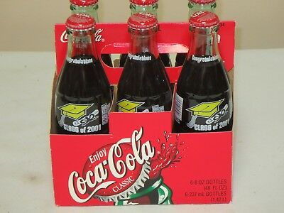 2001 Coca Cola 6 Pack Class Of 2001 Full Never Opened Bottles