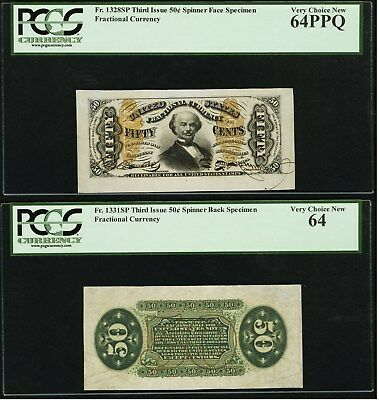 FR1328 Wide Margin Spinner Fractional Pair - PCGS64PPQ - VeryChoice CU -Stunning