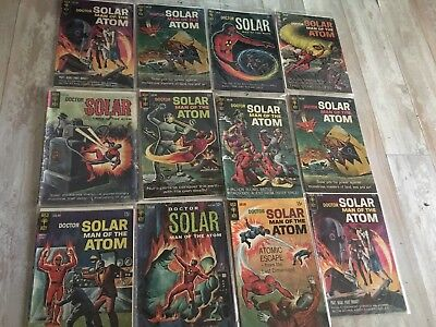 GOLD KEY doctor solar man of the atom  lot 12 Comic SILVER AGE 1964-1969 VF-GD-