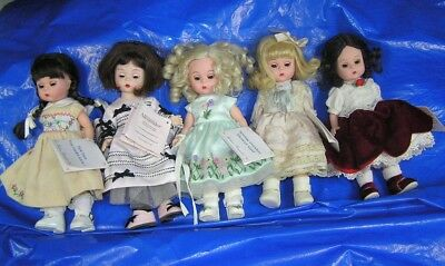 Lot of 5 Madame Alexander  8inch DOLLS   ORIG Tags  NO BOXES  Good SHAPE