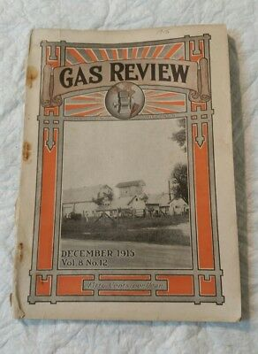 December 1915 Gas Review Magazine Madison, Wi Antique Hit & Miss Engines