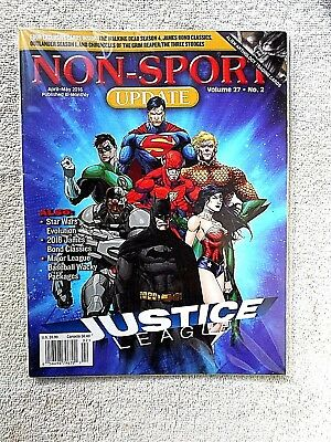 Apr/May 2016 Non-Sport Update Magazine Justice League Cover Vol. 27 #2 VF/NM