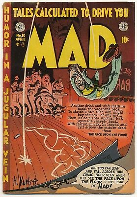 1954 MAD Comic No. 10.  Excellent looking comic with minor flaws