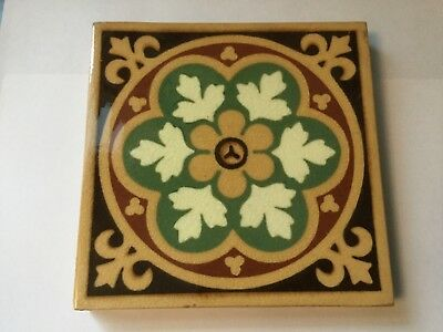 Antique Tile ~ ? Campbell Brick & Tile Co or Minton & Co ? Not marked 1875-1832