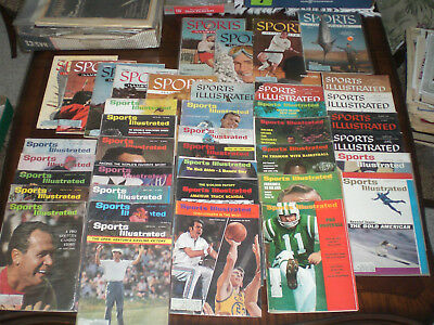 Lot of 40 different Vintage Sports Illustrated magazines 1950's - 1960's