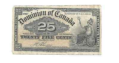 Dominion of Canada Fractional Issues 25 Cents Signature Bovine Pick #9b