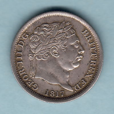 Great Britain.  1817 George 111 - Shilling..  gEF - Much Lustre