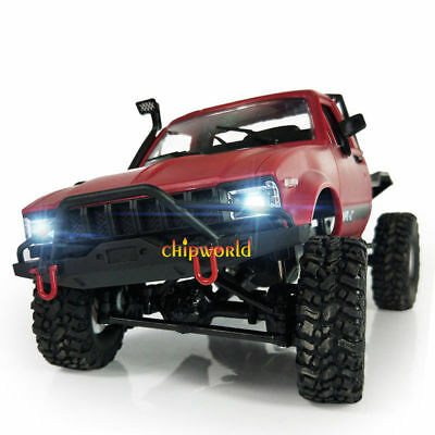 Electric WPL 1:16 2.4G 2CH 4WD Off-road Kids RC Toy Climb Semi Truck RTR Trailer