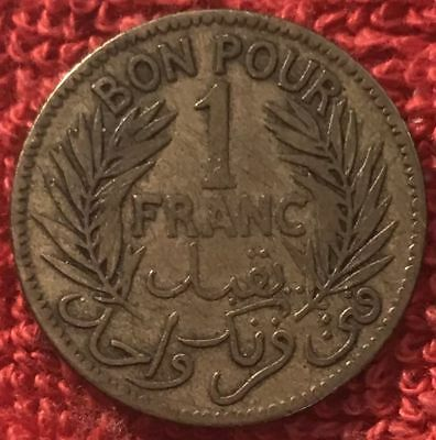 Tunisia KM 247 - 1 Franc 1340 1921 Chambers of Commerce - VF [2/1180]