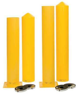 "1764PS Bollard, 7"", Carbon Steel, Yellow"