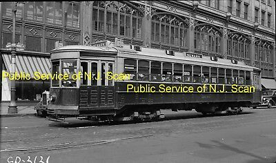 Public Service Of New Jersey Original B&w Trolley Negative Of Car 2639 In 1936