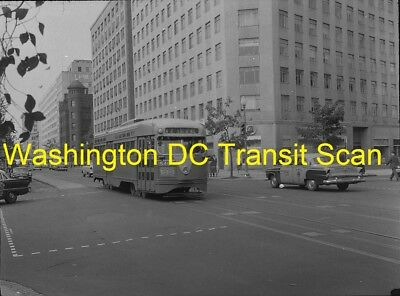 Capital Transit (Washington Dc) Original B&w Trolley Negative Pcc 1546 In 1950's