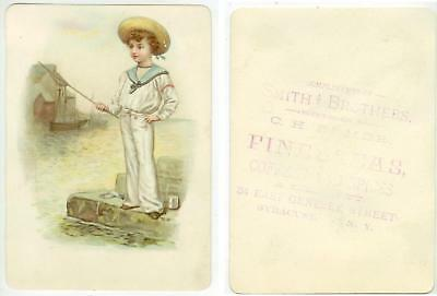 c1880s Smith Brothers Fine Teas trade card Syracuse New York 34 E. Genesee St