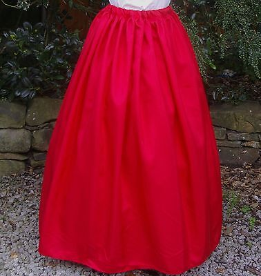 Ladies Victorian Dickensian Steampunk skirt costume fancy dress size 10-12 red