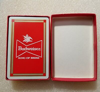 Budweiser King of Beers Playing Cards Complete Deck + Jokers