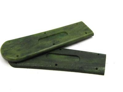 New Old Stock Schrade Jade Bovine Bone Scales set of 2. Knife-Parts-Accessories