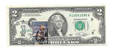 Series 1976 US $2 Dollars First Day of Issue w/ Spirit of 76 Stamp April 13th