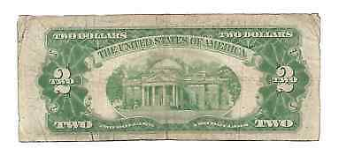 Series 1928-F United States US $2 Dollar Legal Tender Note Red Seal