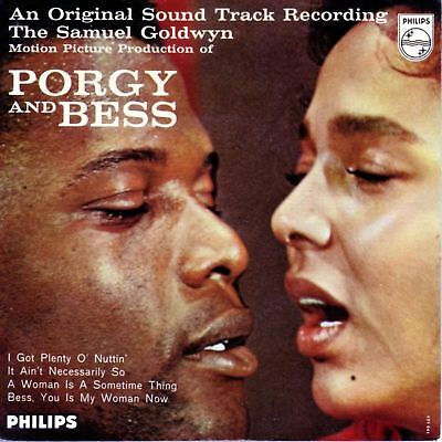 EP,   PORGY AND BESS,  Original Sound Track,  Philips, D 59