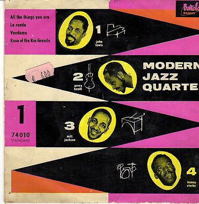 MODERN JAZZ QUARTET Same RARE 4Track EP BARCLAY FRANCE