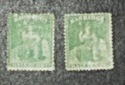 Barbados collection 1875 mounted mint.