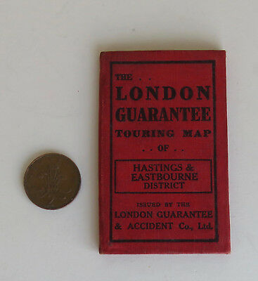 Vintage Touring Map Hastings and Eastbourne District