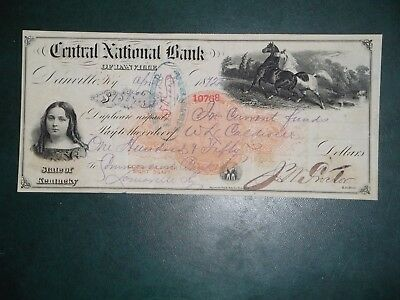 Central National Bank of Danville. Apr. 3, 1872. Danville, Ky. RN-C13