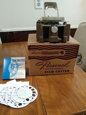 Vintage Viewmaster FC-1 Personal stereo camera FILM CUTTER Sawyer's 4 reel mount