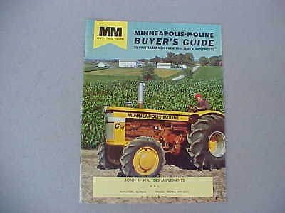 LATE 50's-EARLY 1960's MINNEAPOLIS-MOLINE TRACTORS & EQUIPMENT BUYERS GUIDE