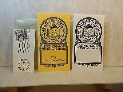 1931 Lot 27 UN-USED BOOKPLATES COLLEGES Provenance Waldo C. Moore ANA President