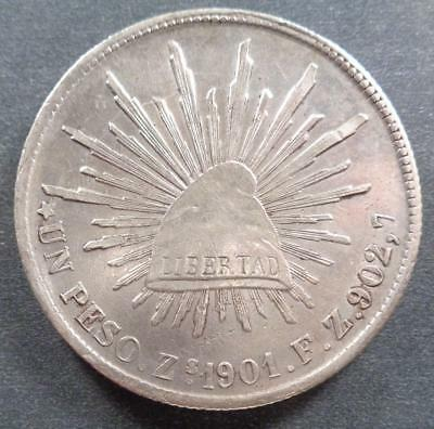 1901Zs F.Z. Republic of Mexico Silver Un Peso (XF)