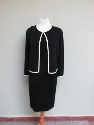 New With Tag Wallis Petite Black & Cream Two Piece Outfit Dress/Jacket Size 14UK