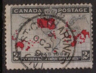 """CANADA  ONTARIO  POSTMARK  / CANCEL  """"ST CATHERINES  ONT""""   1899  MAP stamp"""