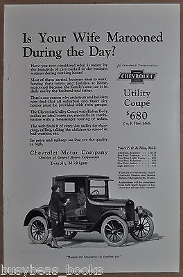 1923 CHEVROLET advertisement, Utility Coupe, Is Your Wife Marooned?