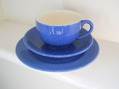 Moorcroft powder blue - cup, saucer and plate