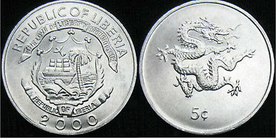 Liberia 2000 5 Cents Uncirculated (KM474)