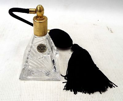 RCR ROYAL CRYSTAL ROCK Pyramid Shaped Scent Perfume Bottle Made in Italy - M31