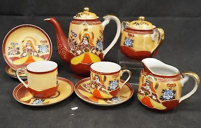 FOREIGN Hand Painted 10 Pieces Coffee Set - F17