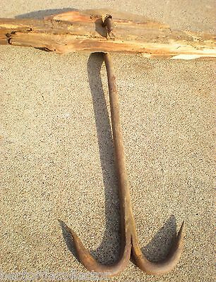SALE Primitive Antique 1890s Hand Tooled Meat Hook Hanger Deer Bear Cow Pig Boar