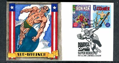 MARVEL COMICS Super Heroes, The IRON MAN and SUB-MARINER, 2007 FDC